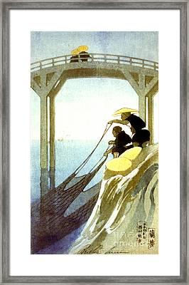 Net Fishing 1913 Framed Print