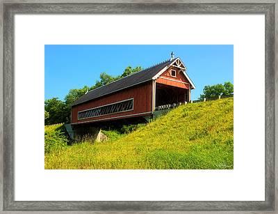 Netcher Road Bridge Framed Print by Skip Tribby