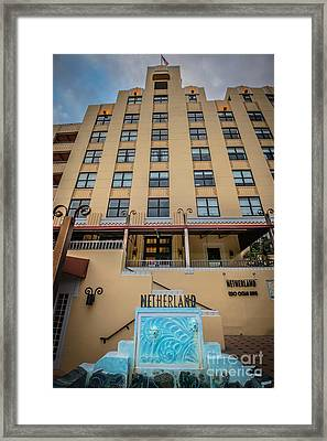 Netherland Hotel South Beach Art Deco District - Hdr Style Framed Print by Ian Monk