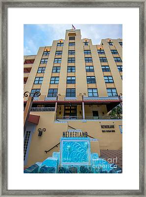 Netherland Hotel South Beach Art Deco District  Framed Print by Ian Monk