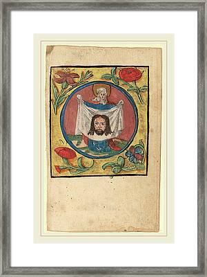 Netherlandish 15th Century, Saint Veronica With The Sudarium Framed Print