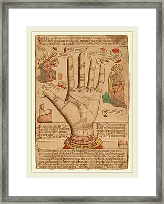 Netherlandish 15th Century, The Hand As The Mirror Framed Print