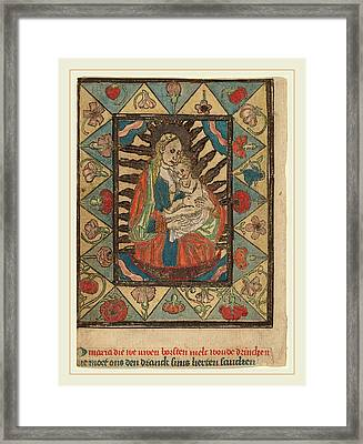 Netherlandish 15th Century, The Madonna And Child Framed Print by Litz Collection