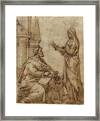 Netherlandish 16th Century, Saint Luke, Second Half 16th Framed Print