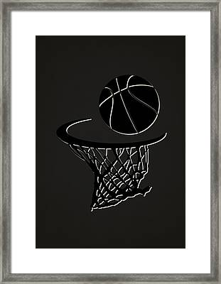 Nets Team Hoop2 Framed Print by Joe Hamilton