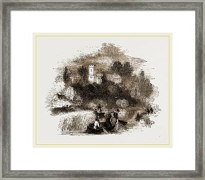 Netting Fishes Framed Print by Litz Collection