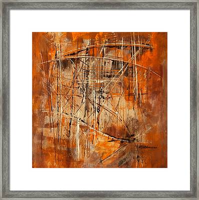 Network Framed Print by Buck Buchheister