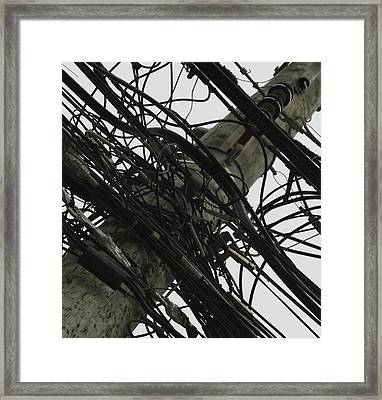 Framed Print featuring the photograph Network Chaos by Nick Mares