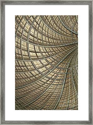 Network Gold Framed Print