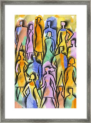 Network Framed Print by Leon Zernitsky