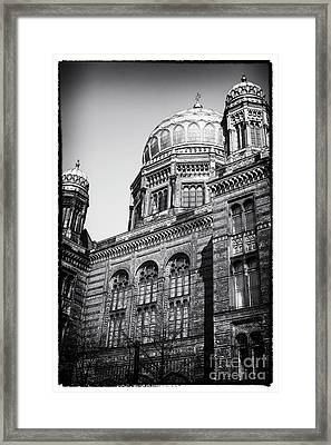 Neue Synagogue Framed Print by John Rizzuto