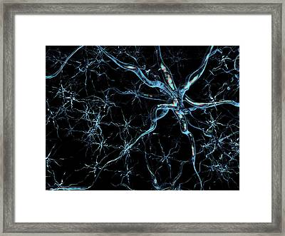 Neural Network Framed Print by Harvinder Singh