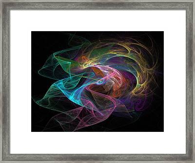 Neural Transmission Framed Print by Barroa Artworks