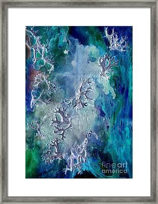 Neuronal Lunar Essence Framed Print by Cristina Handrabur