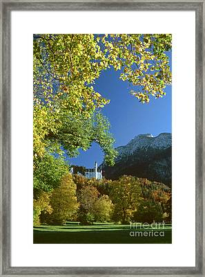 Framed Print featuring the photograph Neuschwanstein Castle Bavaria In Autumn by Rudi Prott