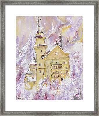 Neuschwanstein Castle  Framed Print by Helena Bebirian