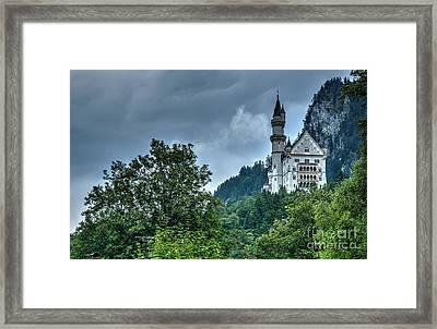 Framed Print featuring the photograph Neuschwanstein Castle by Joe  Ng