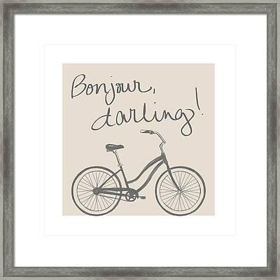 Neutral Glam Bike Framed Print by South Social Studio