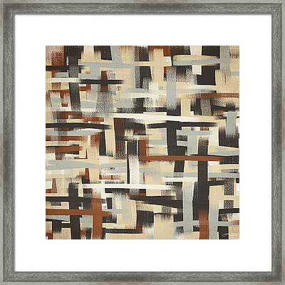 Neutral Patterns Framed Print
