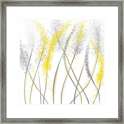 Neutral Sunshine - Yellow And Gray Modern Art Framed Print