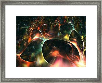 Neutrino Framed Print by Kim Sy Ok