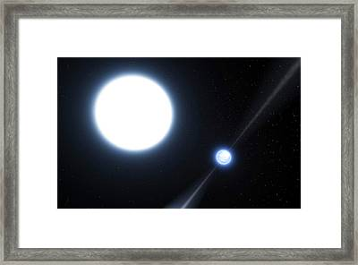 Neutron Star And White Dwarf System Framed Print by Eso/l. Calcada