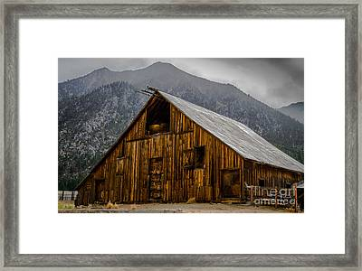 Nevada Barn Framed Print by Mitch Shindelbower