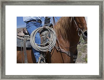 Nevada Cattle Ranch Framed Print
