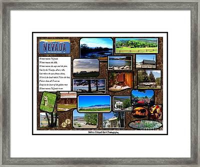 Nevada Collage Framed Print by Bobbee Rickard