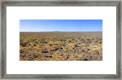Framed Print featuring the photograph Nevada Desert Panorama by Mark Greenberg