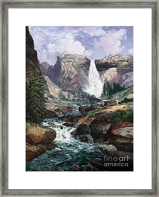 Nevada Falls Rendition By W Scott Fenton Framed Print by W  Scott Fenton