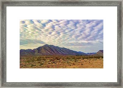 Framed Print featuring the painting Nevada Gold by Steven Richardson