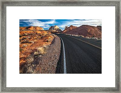 Nevada Highways Framed Print by Peter Tellone