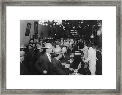 Nevada, Open Gambling In Reno, Looking Framed Print by Everett