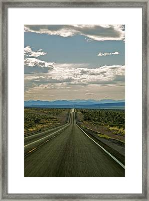 Nevada Road Framed Print