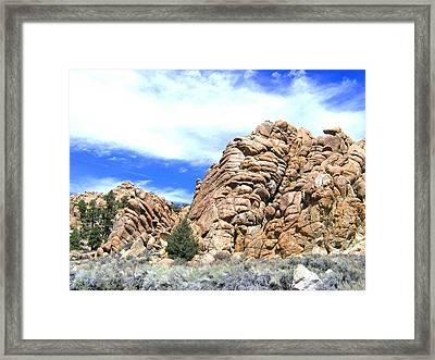 Nevada Rock Formations 2 Framed Print