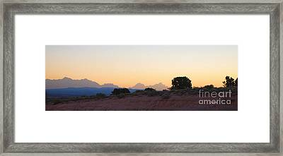 Nevada Sundown Framed Print