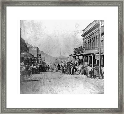 Nevada Virginia City, 1866 Framed Print
