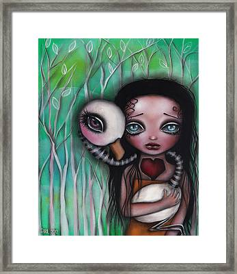 Never Alone Framed Print by  Abril Andrade Griffith
