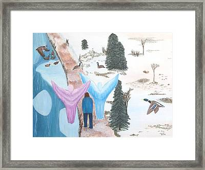 Never Alone Framed Print by Cheryl Bailey