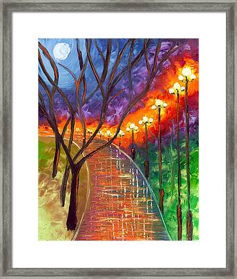 Never Alone Framed Print by Jessilyn Park