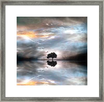 Never Alone Framed Print by Jacky Gerritsen
