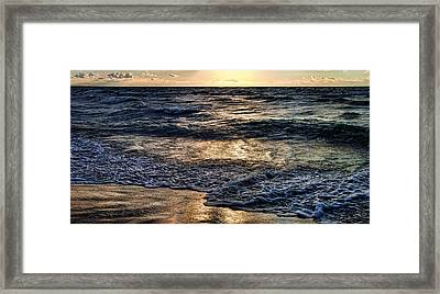 Never Ending Wave At Night Framed Print