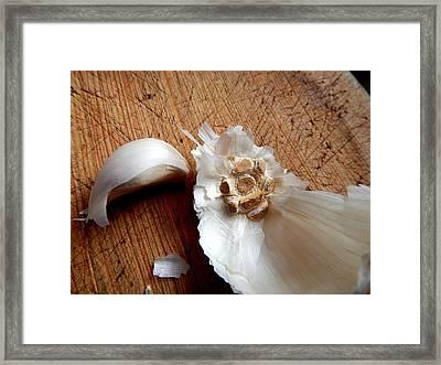 Never Enough Garlic Framed Print by Aliceann Carlton