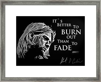 Never Fade Away Framed Print by Steve K