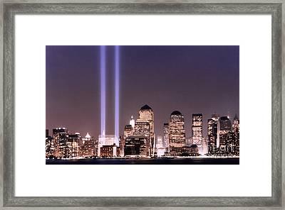 Never Forget Framed Print by Linda  Parker