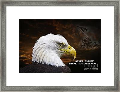 Never Forget - Memorial Day Framed Print