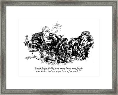 Never Forget Framed Print by William Hamilton