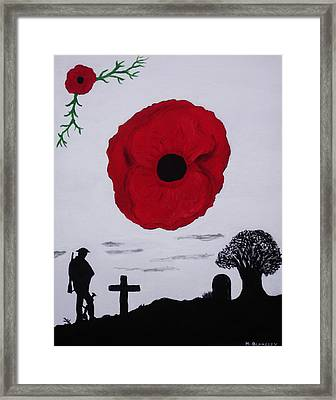Framed Print featuring the painting Never Forgotten by Martin Blakeley