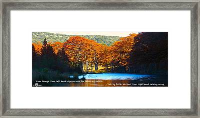 Never Forsaken Framed Print by David  Norman